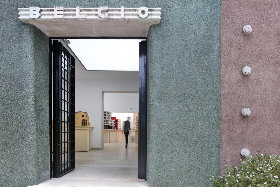 Composite Presence by Bovenbouw Architectuur, Belgian pavilion, Biennale Architettura 2021, Venice, © Filip Dujardin<br>