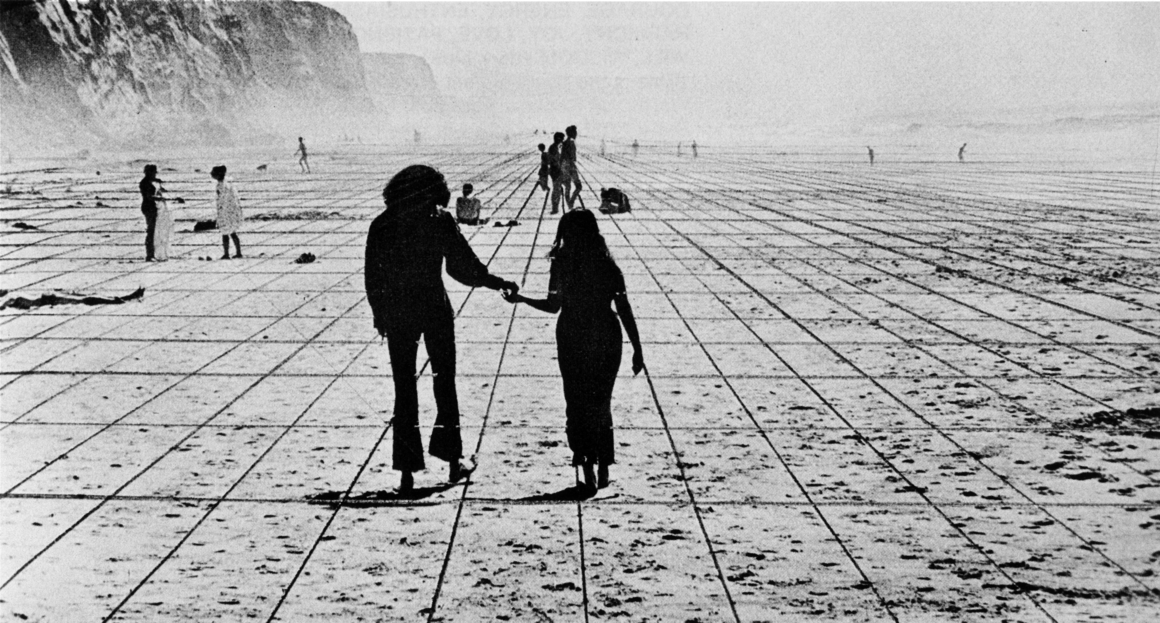 Superstudio, Gli Atti Fondamentali, Vita (Supersuperficie), Viaggio da A a B, 1971<br> © Superstudio. Photo : Cristiano Toraldo di Francia