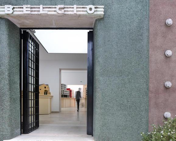 Composite Presence by Bovenbouw Architectuur, Belgian pavilion, Biennale Architettura 2021, Venice, © Filip Dujardin